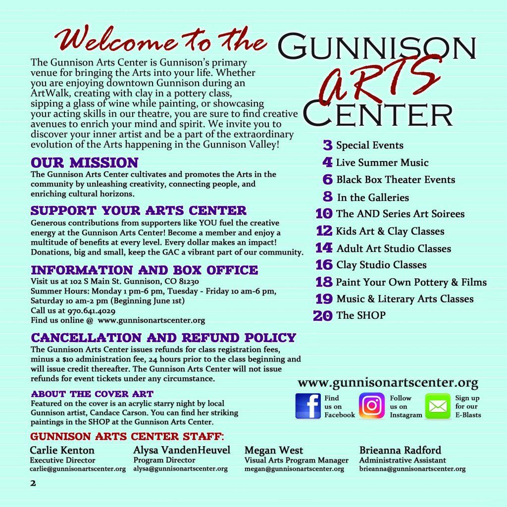 https://www.gunnisonartscenter.org/wp-content/uploads/2014/10/2019-Summer-page-2-welcome-1024x1024.jpg