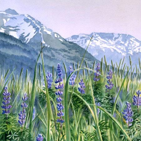 Plein Air Wildflower Watercolor Painting