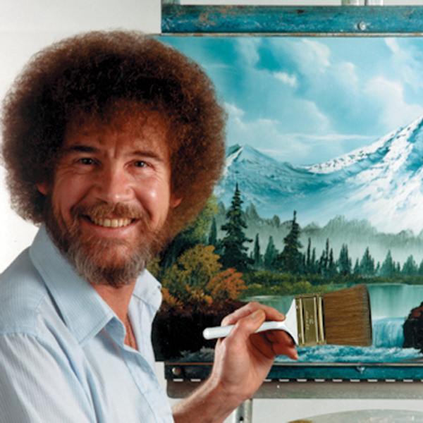 Happy Little Accidents – Bob Ross on the Courtyard