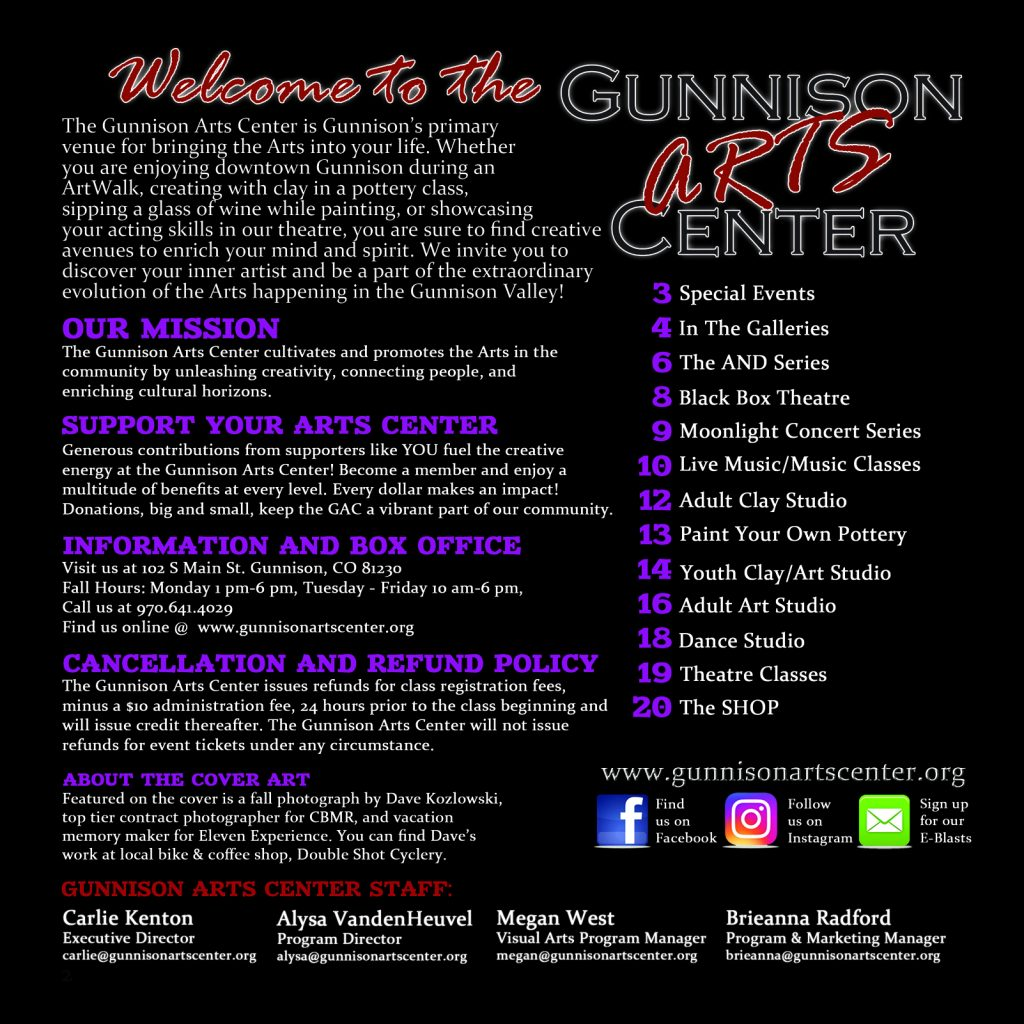 https://www.gunnisonartscenter.org/wp-content/uploads/2019/09/2019-Fall-page-2-welcome-1024x1024.jpg