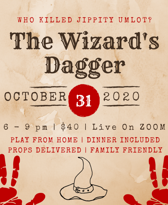 The Wizard's Dagger – Zoom Murder Mystery Party
