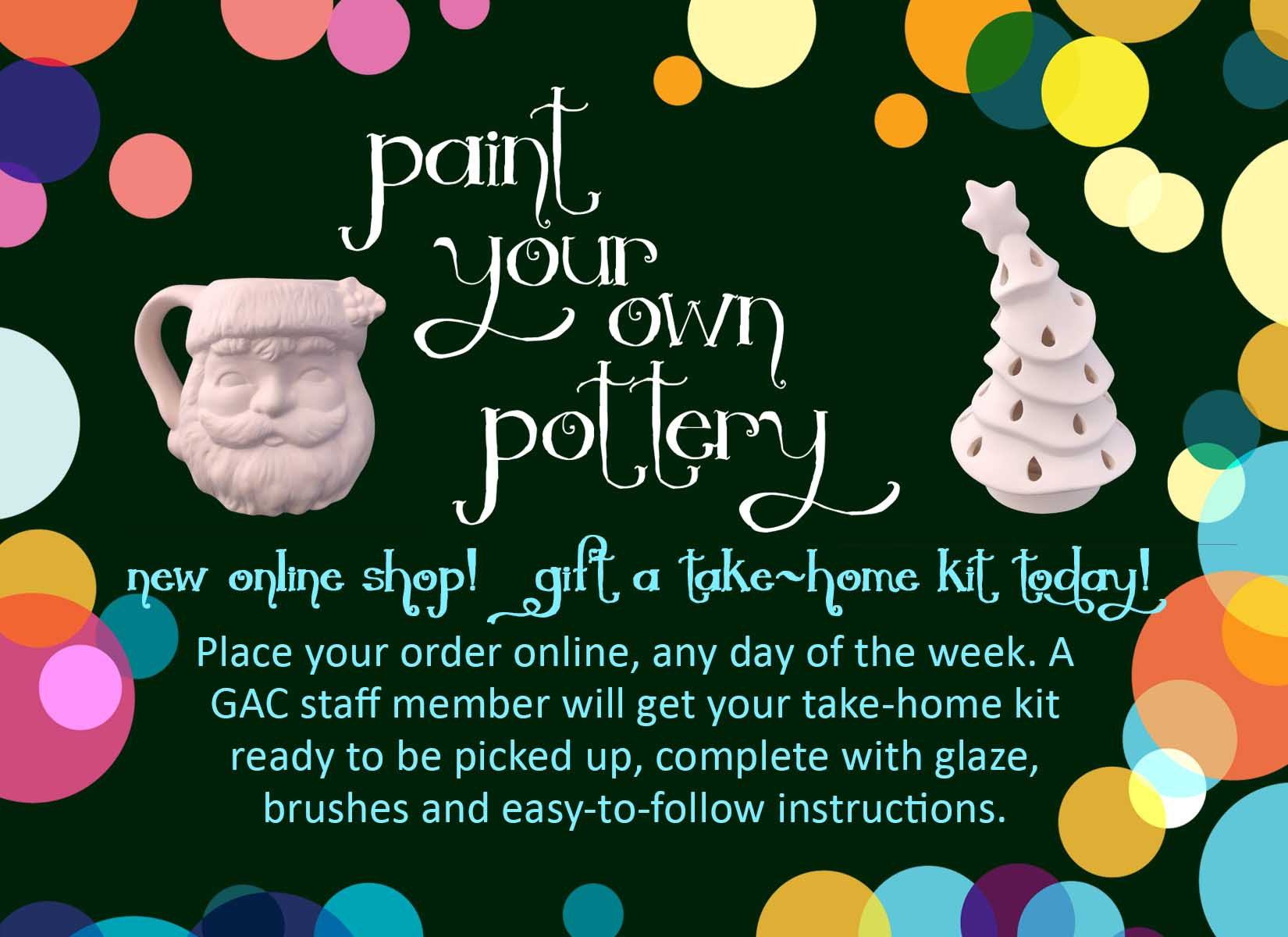 Paint Your Own Pottery ONLINE SHOP!
