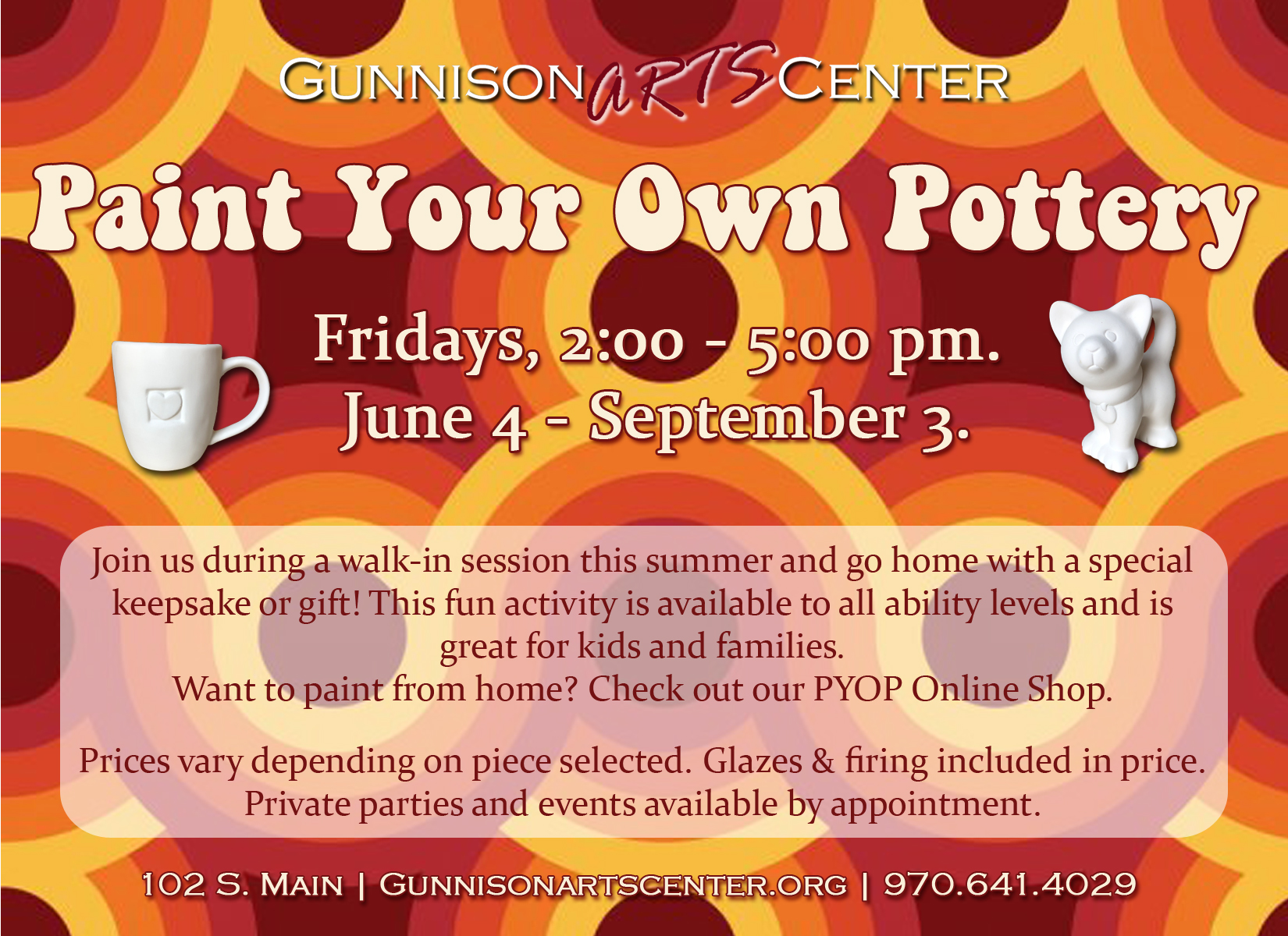 Paint Your Own Pottery Fridays