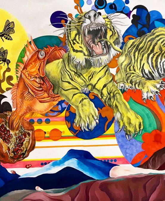 "Main Gallery: Western Colorado University B.F.A. Exhibition ""Brain Trash- A Biomythography"" by Nia Morales"